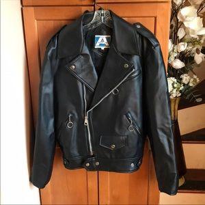 Sale! Vintage faux leather jacket